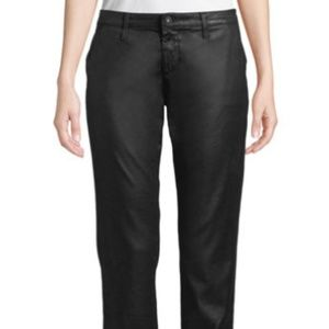 AG Caden cropped black coated trousers - size 24